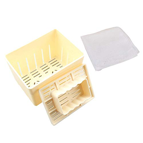 Tofu Maker - Moldes de plástico para hacer cuajada de soja con paño de queso
