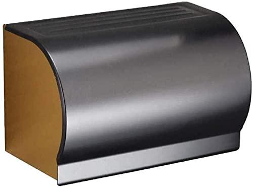 Caja de pañuelos de almacenamiento Decoración de papel higiénico titular baño impermeable caja de pañuelos espacio aluminio impermeable papel higiénico titular