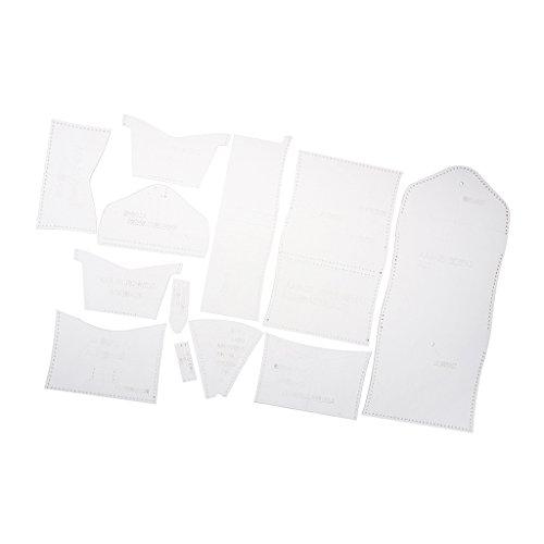 Homyl Plantilla de acrílico con diseño de cartera corta de acrílico de 12 piezas