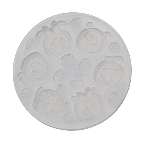 Mengmengda Molde de resina epoxi de cristal para repostería y chocolate, molde...