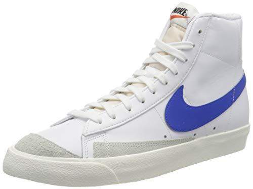 Nike Blazer Mid \'77 VNTG, Zapatillas de básquetbol para Hombre, Vela Blanco/Racer Azul, 42.5 EU