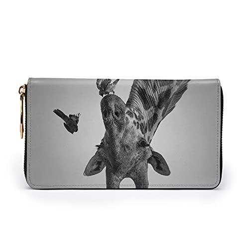 Grappige Dieren Giraffe Gedrukt Lederen Portemonnee Vrouwen Zip Purse Clutch Bag Reizen Creditcard Houder Portemonnee…