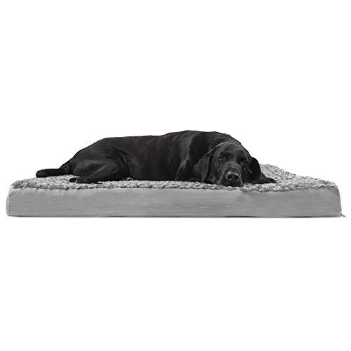 Furhaven Rectangular Step-On Foam Mattress Pet Bed