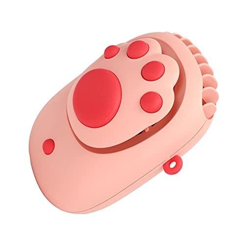 Ventilador de Manos Libres, Ventilador de Cuello, Color Rosa, Innovador, portátil, con Forma de Pata de Gato, Recargable para niños, para Oficina, Viajes al Aire Libre, para el hogar,