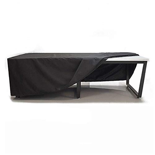 Huolirong Funda Protectora para Muebles Impermeable Funda De Protecció For Mesa Y Silla Tela De Oxford, Negro Muebles De Jardín Funda (Color : Black, Size : 242×162×100CM)