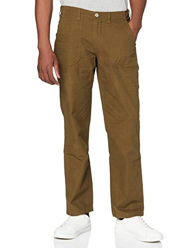 Amazon-Marke: find. Herren Cargo-Hose Utility aus Baumwolle, Grün (Khaki), 28W / 32L, Label: 28W / 32L