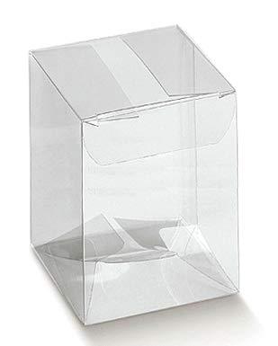 Pianeta Confetti Bomboniera Scatola in Pvc, Portabomboniere e Portaconfetti, Segnaposto, 20 pezzi, 12 x 12 x 15 cm