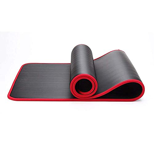 Estera de yoga sin deslizamiento de alta densidad de 10 mm de espesor de estera de entrenamiento de espesor con vendaje para mujeres ejercicio NBR Fitness Mat de espuma ancho alargamiento antideslizan