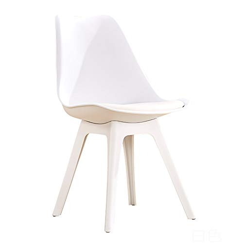 YAN JUN-Chairs Home Learning Computer Chair Creative Modern Plastic Desk Stool Backrest  chair Adult Restaurant Nordic Dining Chair, Simple Assembly ++ (Color : White)