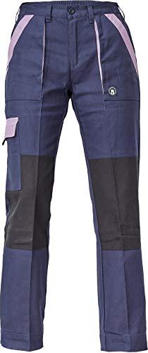 DINOZAVR Max Neo Damen Arbeitshose - Multi Taschen Baumwolle Atmungsaktiv Hose - Dunkelblau/Violett 50