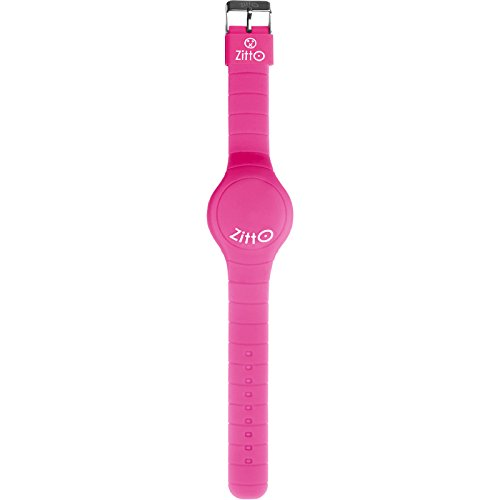 Zitto Mini LED Touch Uhr in Miss Pink Silikon