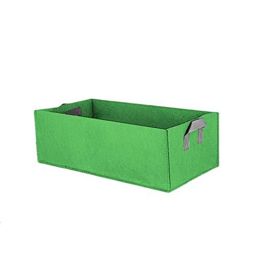 Hunpta @ Sac de plantation rectangulaire en tissu pour jardin/jardin/jardin/jardinière carré pour plantes fleurs et légumes Vert kaki