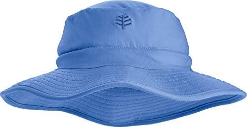 Coolibar UPF 50 Kids Surfs Up Bucket Hat Sun Protective Large X Large Seashore Blue product image