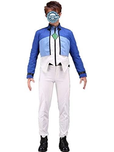 LVCOS Gundam 00 Setsuna F Seiei Cosplay Costume (XS) Blue