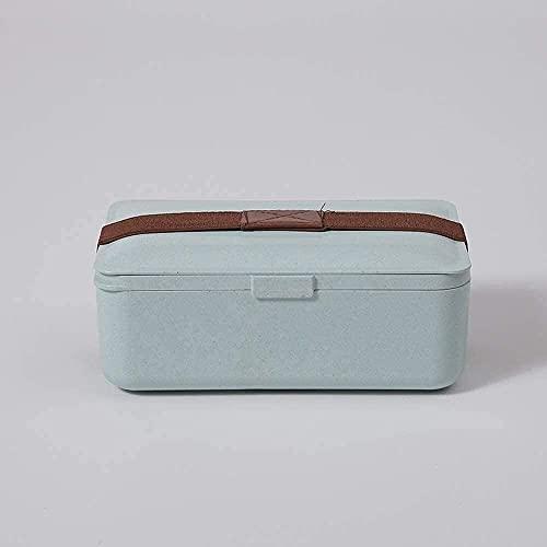 MTWERS Caja de Almuerzo Paja Rectangular Bento Box, Linda Caja de Almuerzo Japonesa, Caja de Bento de Alimentos, Caja de Almuerzo de Gran Capacidad, Capacidad de Almuerzo, Capacidad/Comidas/FRU