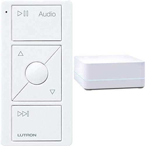LUTRON Caseta Wireless Smart Bridge + Audio Pico Remote, Sonos Endorsed Integration, White