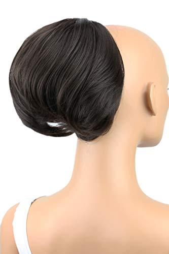 PRETTYSHOP Dutt Haarteil Zopf Haarknoten Hepburn-Dutt Haargummi Hochsteckfrisuren Dunkelbraun HD1