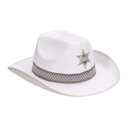 WIDMANN 2492W?Sheriff Sombrero de Fieltro para Adultos, One Size