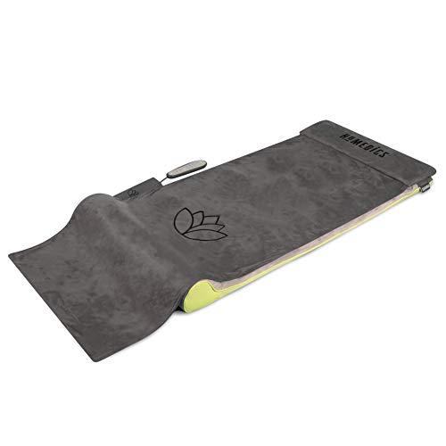 Homedics Stretch Stretchingmatte 2.0 inspiriert durch Yoga, Yogamatte Gymnastikmatte Fitnessmatte für Fitness und Entspannung, Dehnung der Muskulatur und Verbesserung der Beweglichkeit, 6 Programme