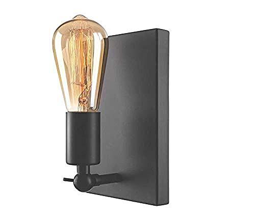 Retro Lampen Wandlampe dekorative Beleuchtung Retro Wandlampe Innenlampe nackte Lampe Wandlampe einzelne Lampe schwarz Hauptdekoration Beleuchtung