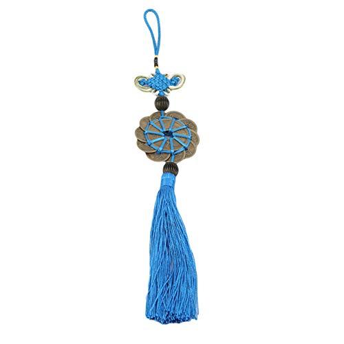 ZNMUCgs - Marcapáginas de borla con nudo de la suerte, hecho a mano para hacer proyectos, Blue (Azul) - ZNMUCgs