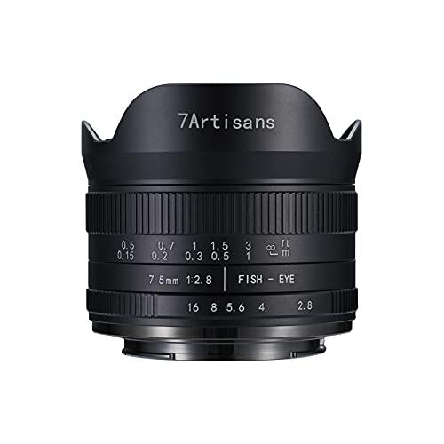 7artisans Fisheye Objektiv 7,5mm F2.8 II Ultraweitwinkel Manueller Fokus APS-C für Kamera DSLR Canon M Montura M M2 M3 M5 M6 M10 M100 M200 M50