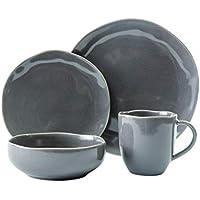 16-Piece Scott Living Modern Classic Dinnerware Set (Gray)