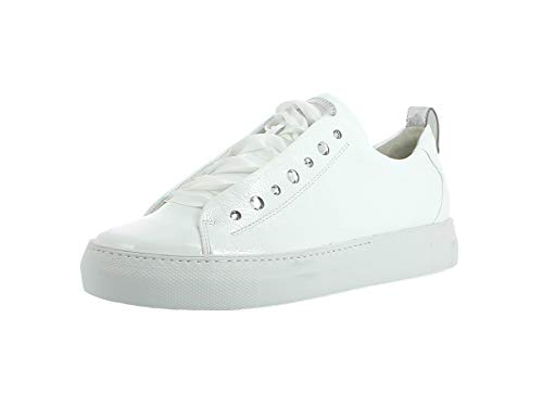 Paul Green Damen Sneaker 4645, Frauen Low-Top Sneaker, schnürschuh sportschuh Plateau-Sohle weibliche feminin,MET White/Silver,38.5 EU / 5.5 UK