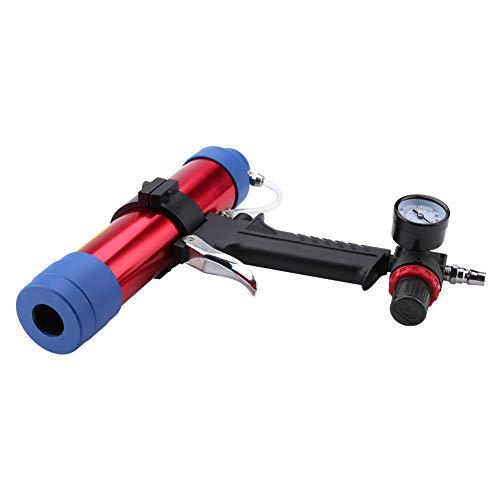 Pistola selladora de pegamento de vidrio neumático normal, cubierta frontal con aleación de aluminio fuerte y resistente duro