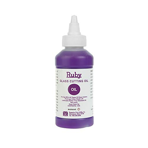Premium Ruby Glass Cutting Oil 4 Oz Bottle