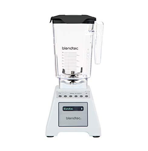 Blendtec Total Classic Original Blender-WildSide+ Jar (90 oz) Professional-Grade Power-6 Pre-programmed Cycles-10-speeds, White