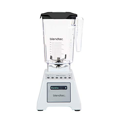 Blendtec Total Classic Original Blender-WildSide+ Jar (90 oz) Professional-Grade Power-6 Pre-programmed Cycles-10-speeds, White