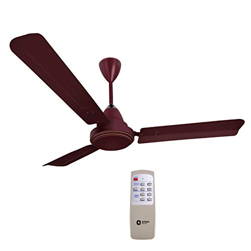 Orient Electric Energy Saver Ecotech Plus 1200mm Ceiling Fan with Remote (Brown)
