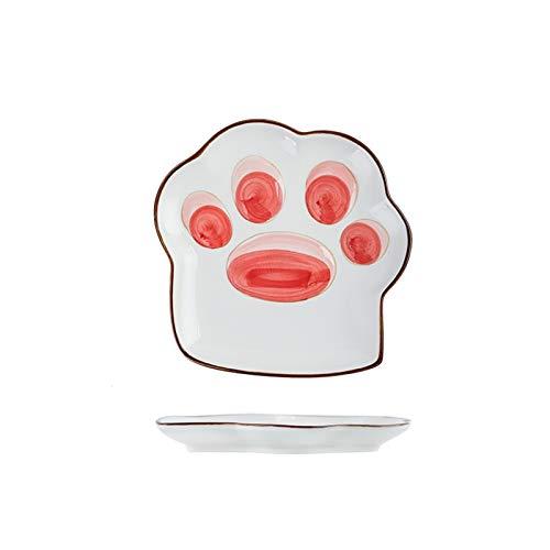 Platos Vajilla de Estilo japonés Conjunto Platos y Platos Hogar Single Rice Bowl Cute Girl Heart Ceramic Shareware Platos de Cena (Color : A)