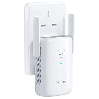 Victure Dual Band 5Ghz /2.4Ghz Wifi Booster, 1200Mbps WiFi Range Extender with Ethernet Port, Easy and Simple Setup, to Extend the Coverage Up to1200 sq.ft