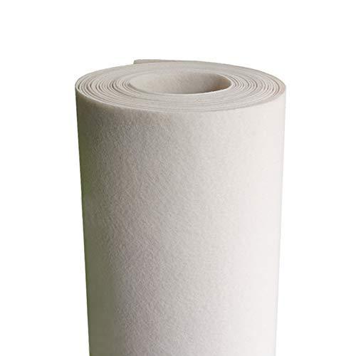 XIAOZHEN Hojas de Fieltro Fieltro para Manualidades por Metros 100cm de Ancho 2mm de Grosor para Costura y Artesanías de Bricolaje(Color:lechoso)