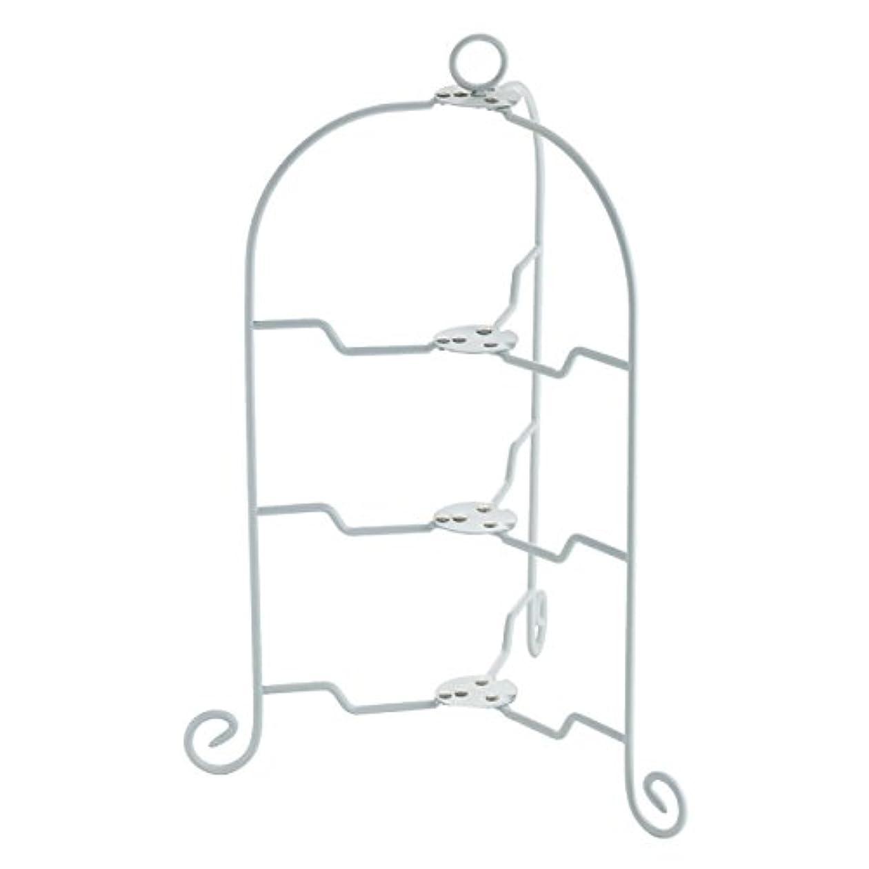 バッフル老朽化した知覚するCASUAL PRODUCT ドルチェ フォールダブルケーキスタンド3段 WH 018190