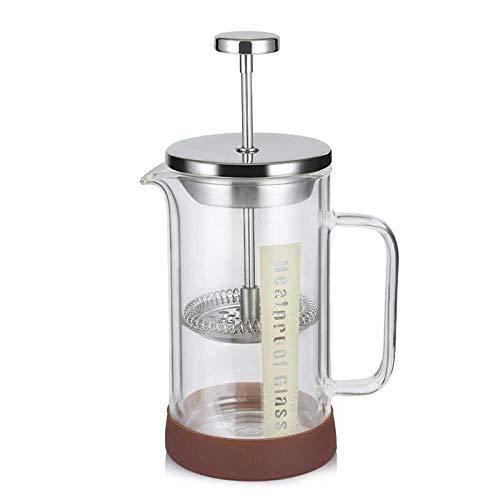LANZHEN-RY Cafetera Hacer café francés, Cafetera francés Prensa de la Mano Cafeteira Espresso Cristal de Acero Inoxidable cafetera de Filtro Cafetera percolador, 500ml para el café (Size : 350ml)
