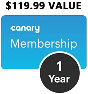 Canary Premium 1-Year Service Plan + 2-Year Extended Warranty | Connect & Monitor Up to 5 Devices (Includes 30 Day Cloud Storage, Two-Way Talk, Desktop Streaming, Incident Support) | Value $119.99