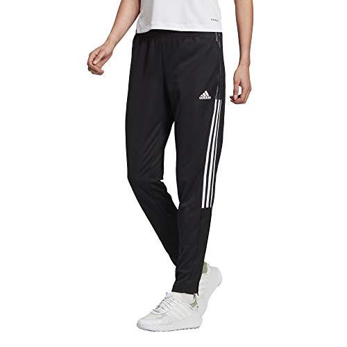 adidas womens Tiro 21 Track Pants Black/White Medium