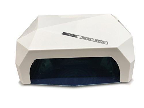 Crisnails - 36W Lámpara de Uñas Manicura CCFL CFL para Gel y Esmalte UV LED Secador Lámpara, Varios Colores ⭐