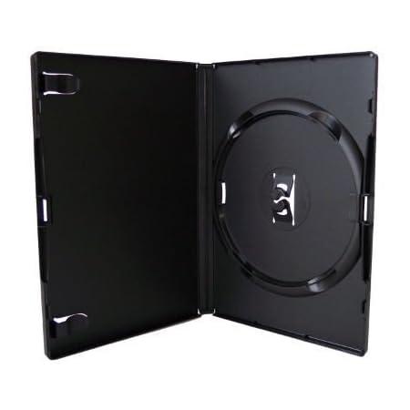 10 x Individual Negro Amaray DVD Repuesto Carcasas