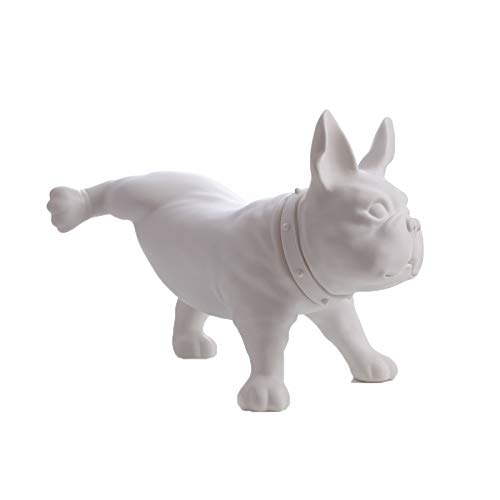 QVEIAPLS Pet Dog Sculpture French Bulldog Ornaments Simulation Dog Home Window Display Photography Props Modern Gardening Peeing Style,3