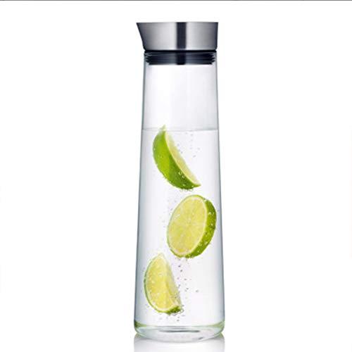Glazen kruik met deksel water Pitcher glas karaf anti-Side lekkage met deksel glas water Pitcher glas waterpot stijlnaam 1000ml Kleur
