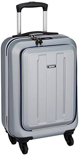 [マンハッタンエクスプレス] スーツケース ジッパー フロントオープン 機内持ち込み可 28L 53 cm 2.8kg シルバー