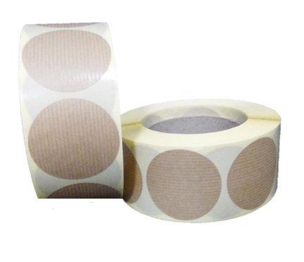 100 Etiquetas adhesivas redondas Kraft (5 x 5 cms)