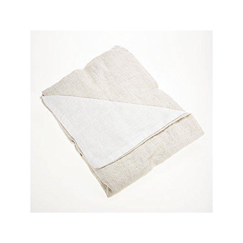Drap House Taie d'oreiller 100% Lin lavé 65x65 - Couleur: Naturel - Blanc