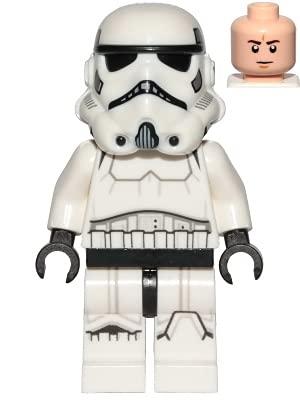 LEGO Star Wars Stormtrooper (casco moldeado dual) Minifigura de 75300 (equipado)