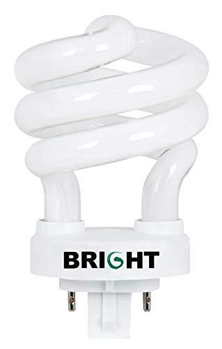 Bright Lighting 97040 PLS13-13W Spiral Compact Fluorescent Light Bulb CFL, Bright White, 3000K, 13-Watts, 4-Pin Plug-In G24Q-1 Base