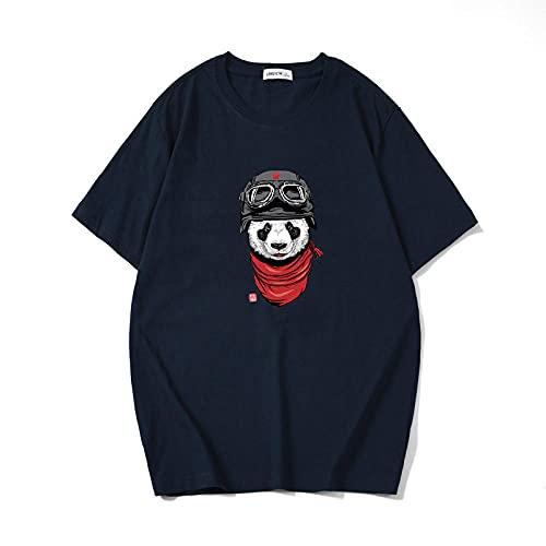 Cuello Redondo Animados T-Shirt,Japanese Comics Dibujos Animados Cuello Redondo Camiseta de Manga Corta Media manga-T347 Gato Volador (Baolan)_Medio